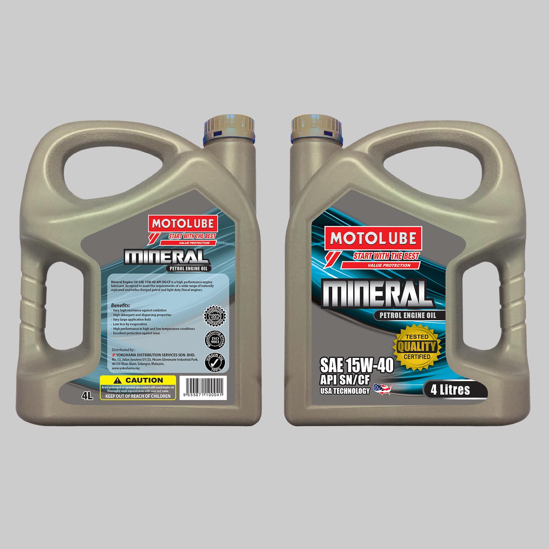 Mineral Engine Oil SAE 15W-40 API SN/CF
