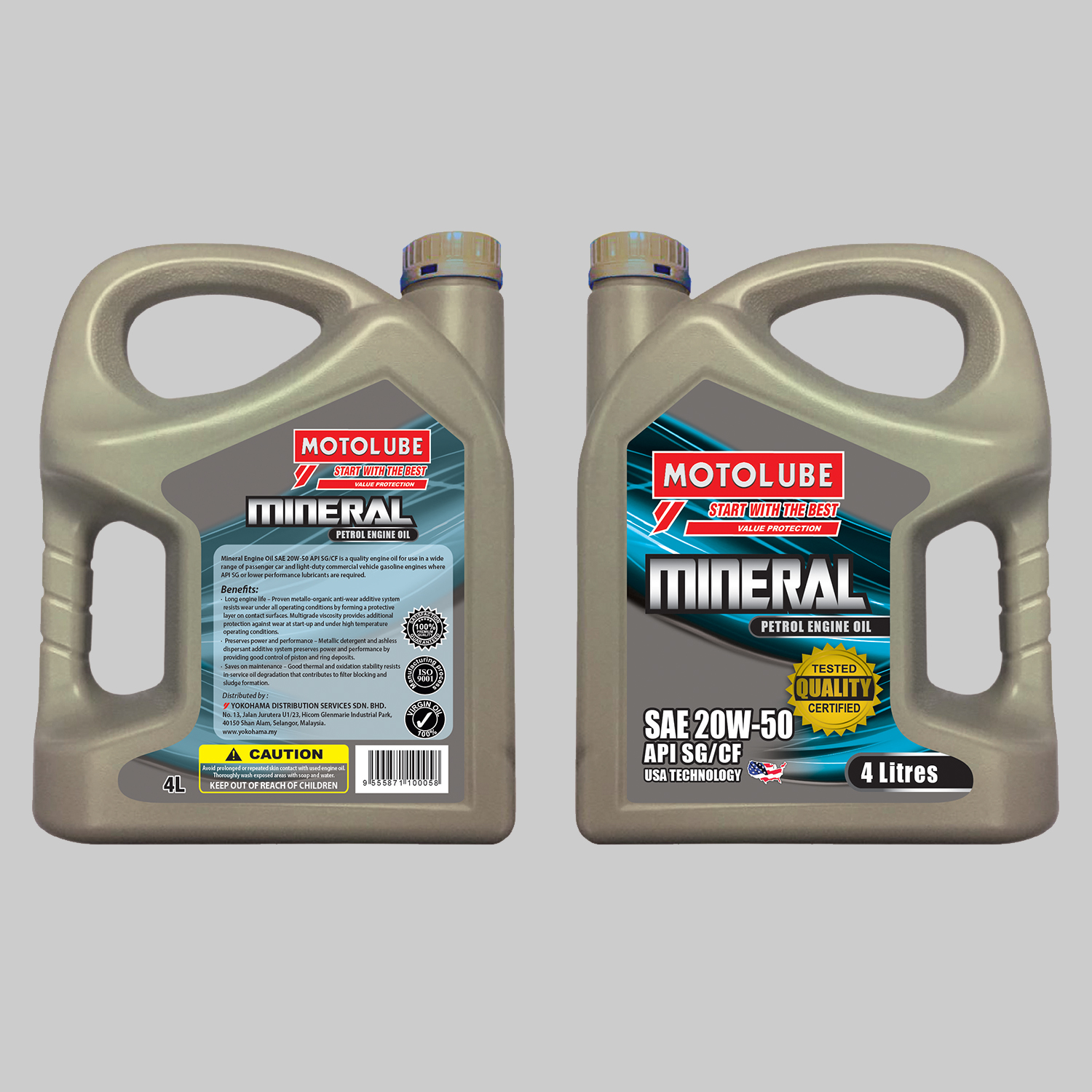 Mineral Engine Oil SAE 20W-50 API SG/CF