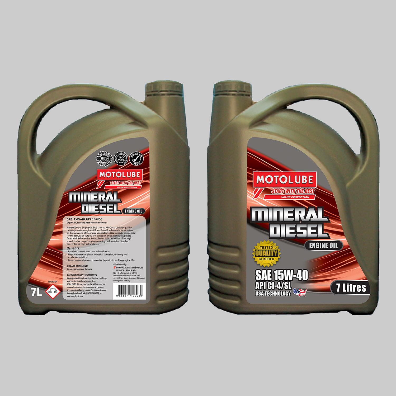 SAE 15W-40 API CI-4/SL (Engine Oil, contains base oil with additives)