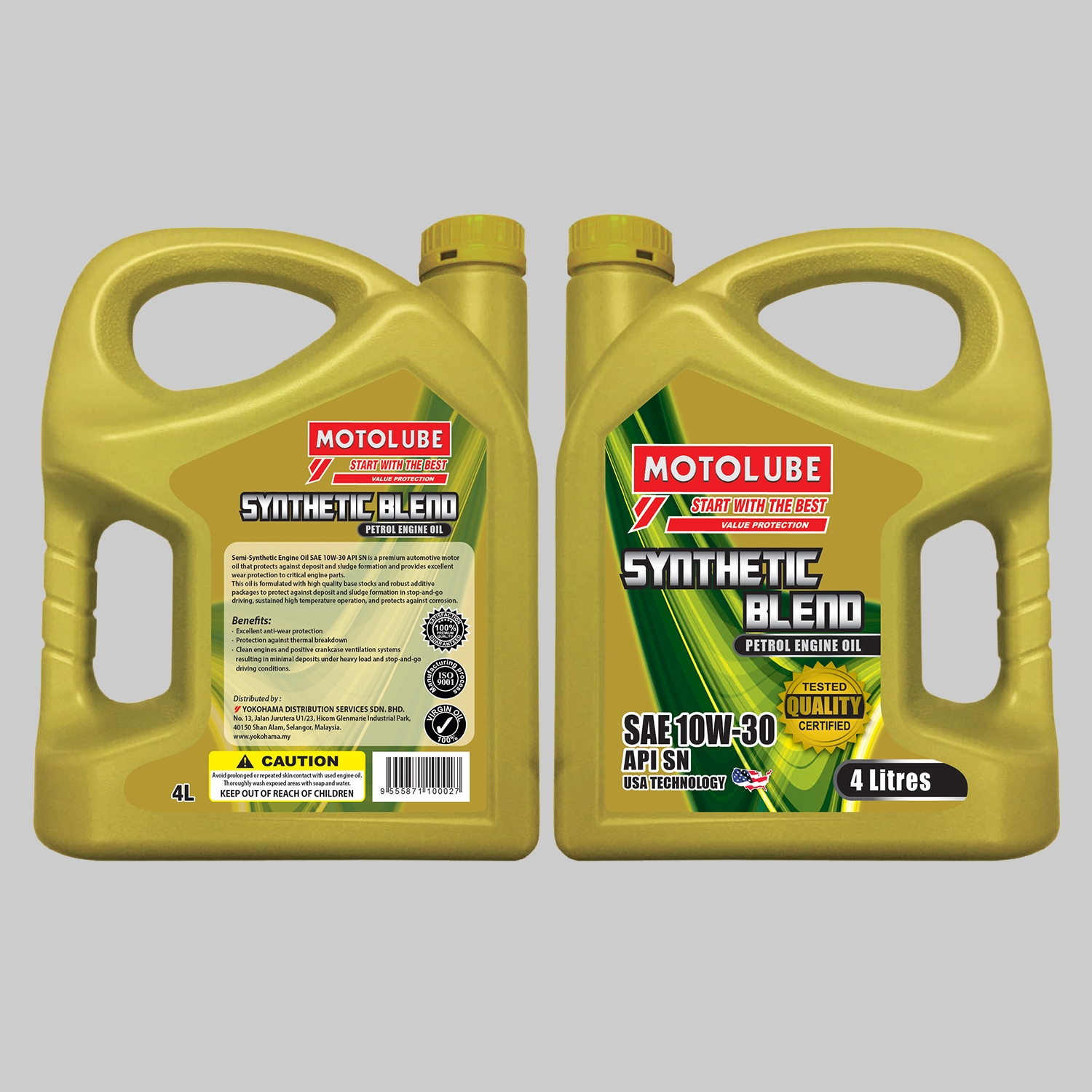 Semi-Synthetic Engine Oil SAE 10W-30 API SN