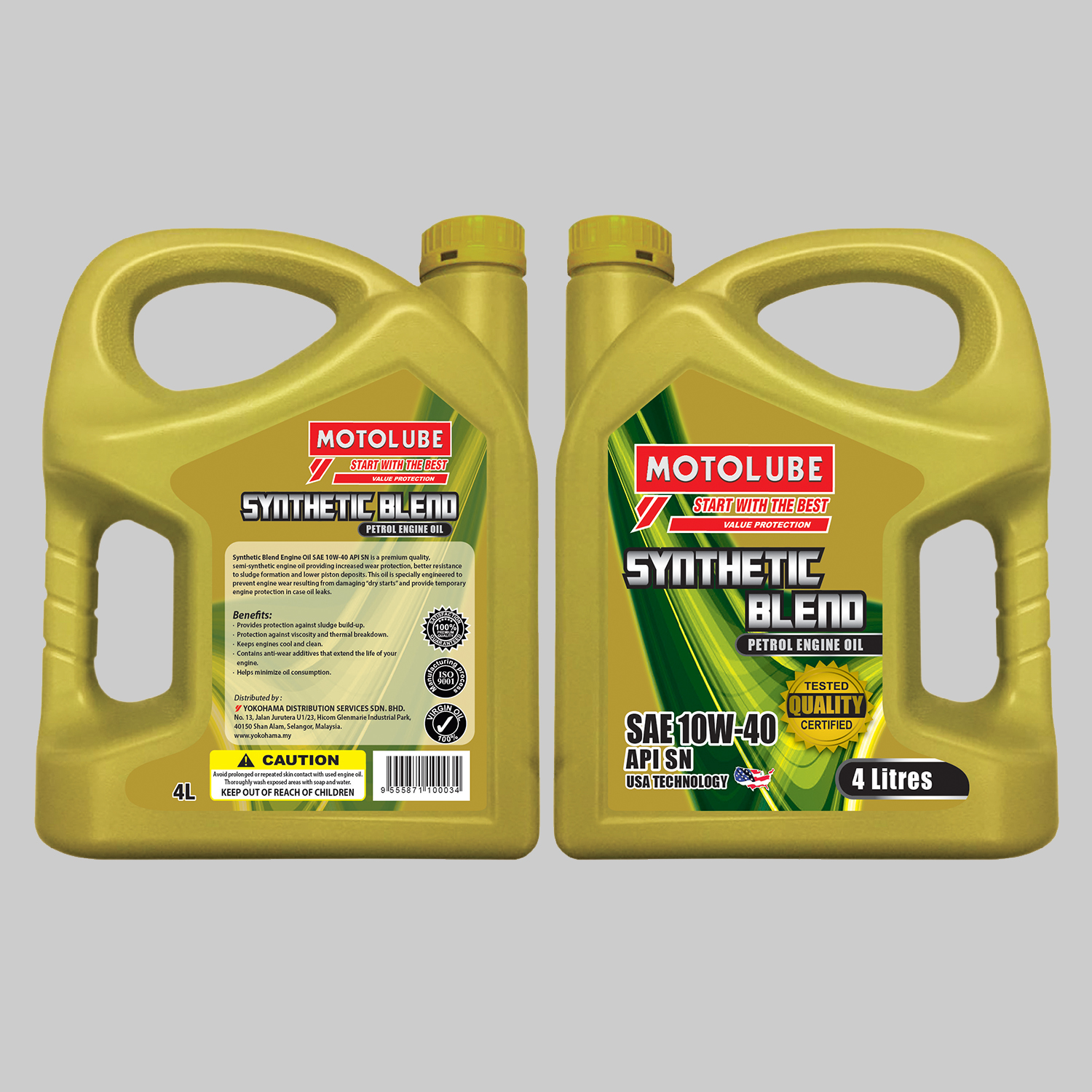 Synthetic Blend Engine Oil SAE 10W-40 API SN