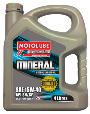 MOTOLUBE SAE Mineral 15W-40 4L