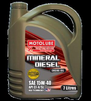 Mineral Diesel Engine Oil 15W40 7L (API CI/4/SL)